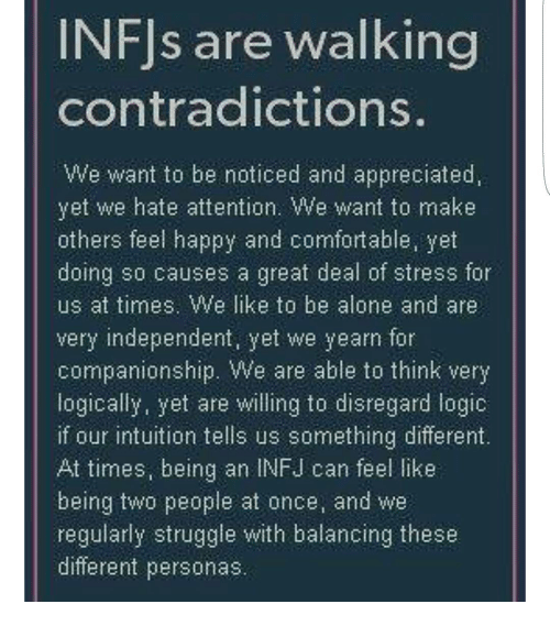 infj contradiction