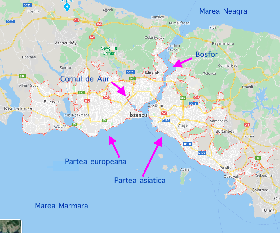 istanbul harta